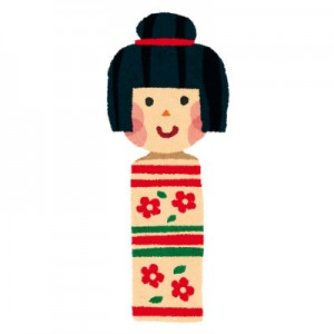 free-illustration-kokeshi